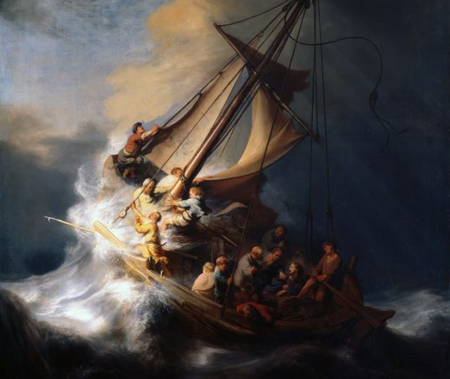 Rembrandt Storm on the Lake of Galilee