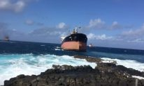 WATCH: Tugs Pull Grounded MV Benita From Mauritius Coast