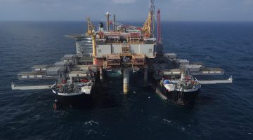WATCH: Pioneering Spirit Removes Yme Topsides in North Sea
