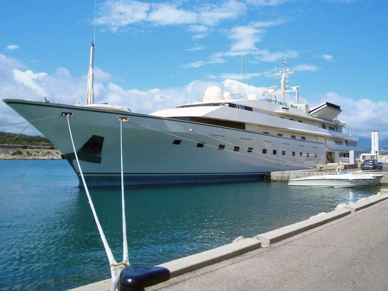 The Superyacht Trump Princess docked in Antibes, France. Image Via WikiCommons