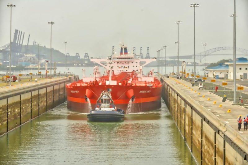 Suezmax Aegean Unity new panama canal locks