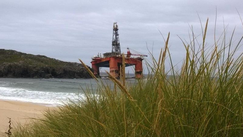 Transocean Winner aground in Scotland. Photo: UK Maritime and Coastguard Agency