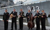 U.S Navy Sideboys Vocal Group at USS Barry, Navy Ship DD-933