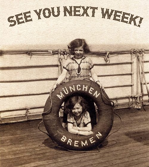 Pick Sisters on the SS Bremen 1926