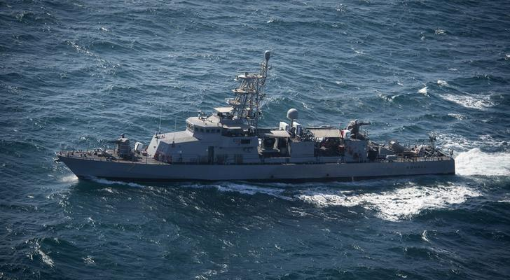 The U.S. Navy patrol craft USS Squall (PC 7) steams in the Arabian Gulf in this U.S. Navy picture