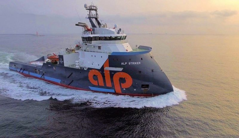 ALP Striker is the first of four vessels in ALP Maritime's Future-class of Anchor DPII Anchor Handling Salvage Tug