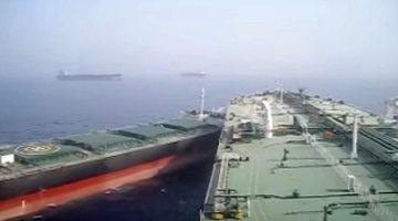 Watch: VLCC and Bulk Carrier in Near Miss