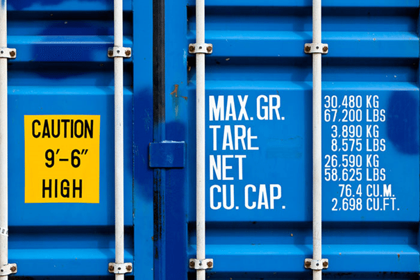 Hanjin Shipping Container vgm