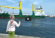 WATCH: Little Girl Adorably Frightened by Ship's Horn Blast