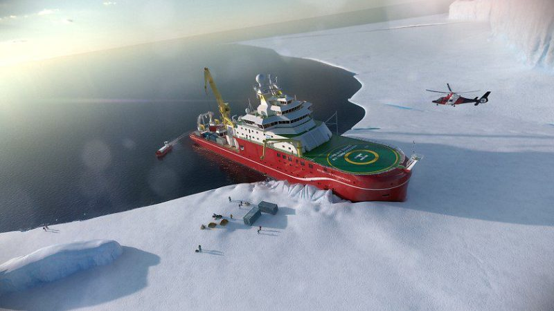 RRS Sir David Attenborough. Illustration credit: NERC