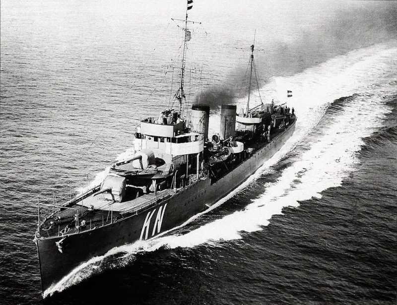 HNLMS Kortenaer pictured in the 1930's.