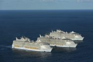 Ship Photos of the Day – World's Three Biggest Cruise Ships Meet at Sea