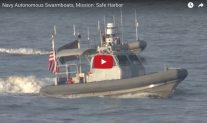 U.S. Navy Shows Off Unmanned Autonomous 'Swarm Boats'