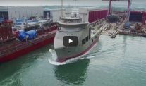 WATCH: Launching of Multi-Purpose Offshore Vessel 'Dina Polaris'