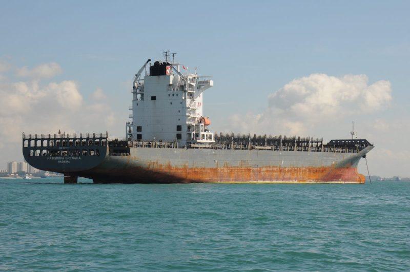 MV Hammonia Grenada at a Singapore anchorage, January 11, 2016.