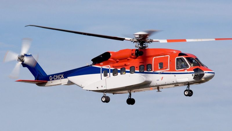 File photo shows the Sikorsky S92 aircraft.