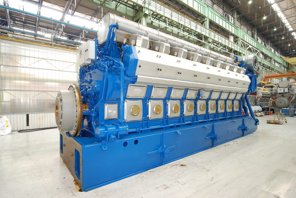 A Wärtsilä 50DF medium-speed engine can be run either on natural gas or on light fuel oil (LFO) or on heavy fuel oil (HFO). The engine can smoothly switch between fuels during engine operation and is designed to give the same output regardless of the fuel.