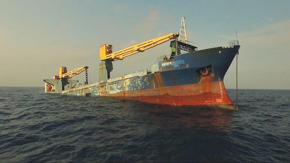 cargo ship kraken scuttled
