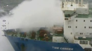 Watch: Stricken 'Tide Carrier' Rockin' and Rollin' Off Norway