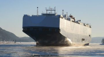 American Car Carrier Suffers Fire in English Channel