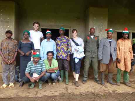 The CAM's team with Mofako Bekondo Council, late 2012