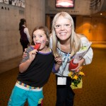 Madeleine Shaw and her daughter Gigi at G Day Vancouver 2014
