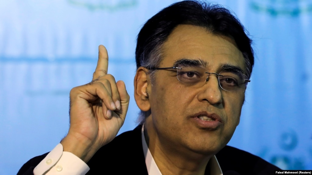 Pakistani Finance Minister Asad Umar earlier this month visited Washington for talks with the international lender on a long-delayed bailout program.