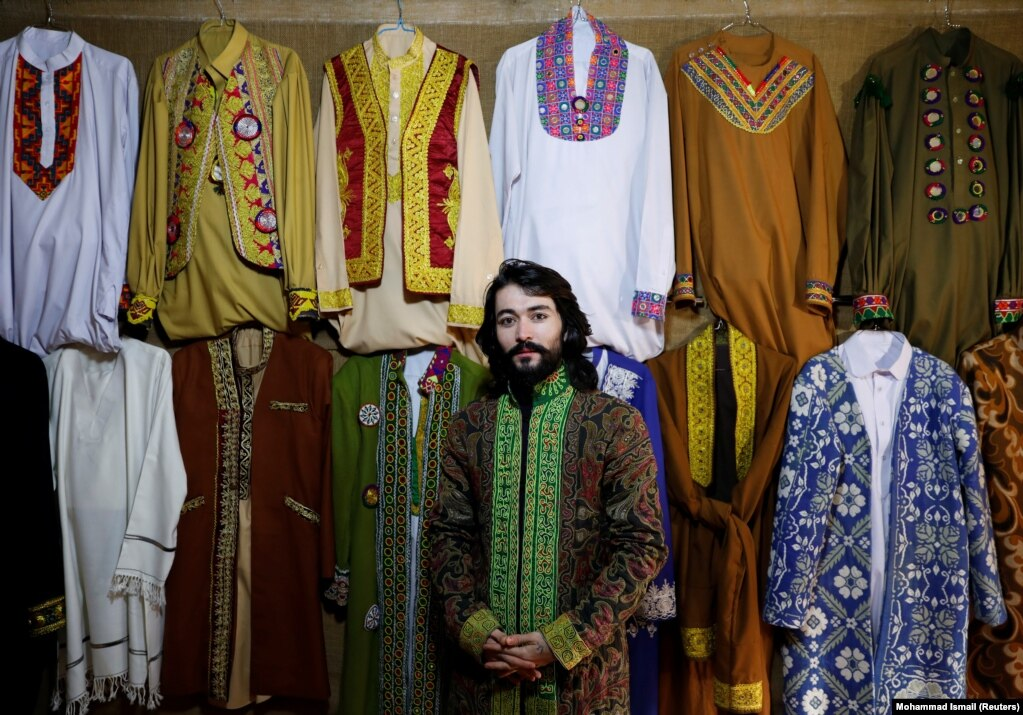 """Afghan model Omid Arman, 21. """"Everyone has the desire for peace in this country. We've witnessed a lot of conflicts. It's enough, we don't want to be witnesses to any more tragedy."""""""