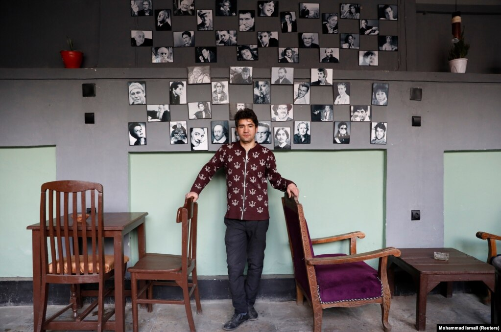 """Anosh Sarwari, 23, works in a coffee shop. """"We are thirsty for peace. We want peace so people can run their businesses and live comfortably."""""""