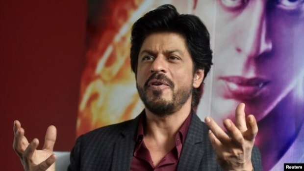 Bollywood actor Shah Rukh Khan speaks during an interview with Reuters at Madame Tussauds in London, April 13, 2016.