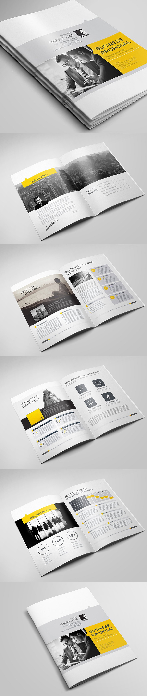 New Brochure Templates Catalog Design   Design   Graphic Design Junction Business Proposal Brochure Template
