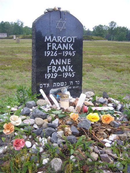 Anne Frank's marker at Bergen Belsen (2/2)