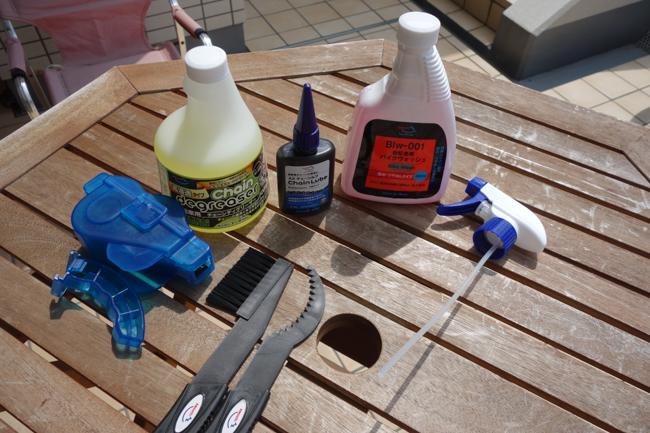 クロスバイク チェーン清掃AZ