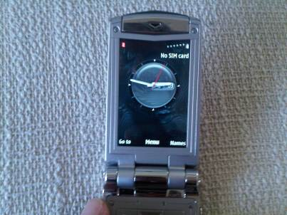 Vertu Ayxta Home Screen