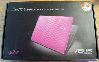 Gear Diary Checking out the ASUS Eee PC 1008P Seashell Karim Rashid Collection Netbook photo