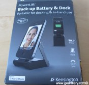 Gear Diary Review: Kensington PowerLift Back Up Battery, Dock and Stand photo