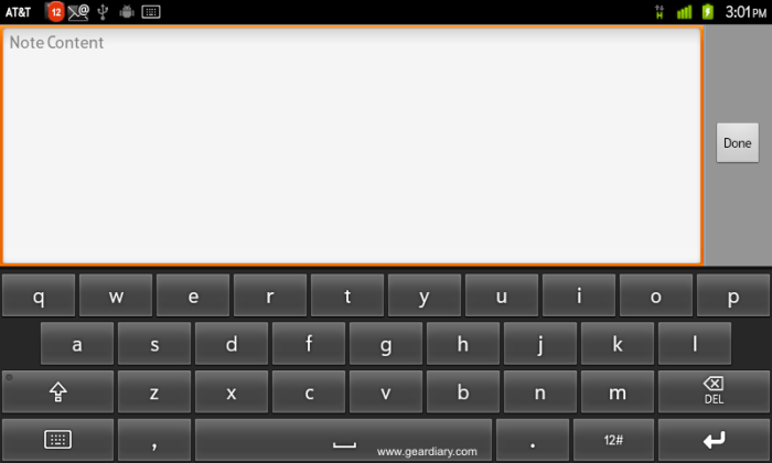 WritePad keyboard