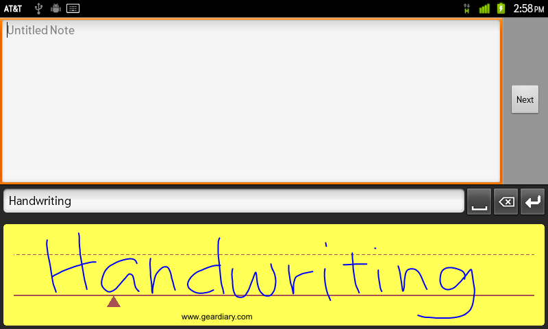 WritePad with text
