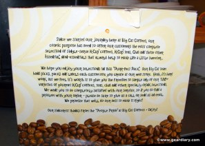 Gear Diary Big Cat Coffees Purr fect Pack Review photo