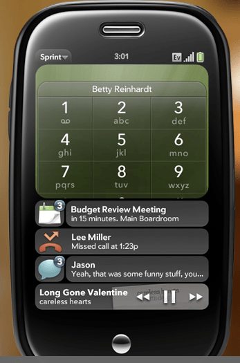 WebOS notifications