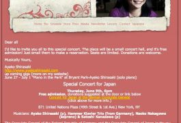 Ayako Shirasaki Japan Concert1