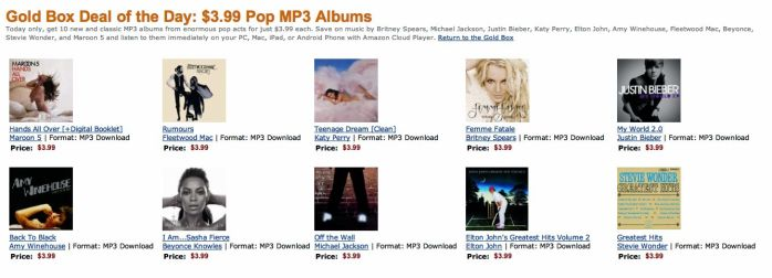 Amazon Pop Album Deals