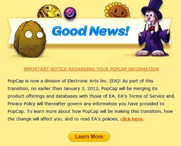 PopCap New ToS