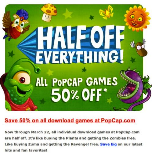 PopCap Games Sale