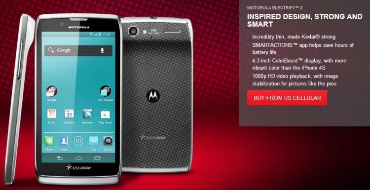 Motorola Electrify 2 US Cellular