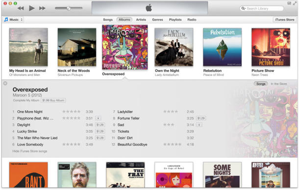 iTunes 11 Interface