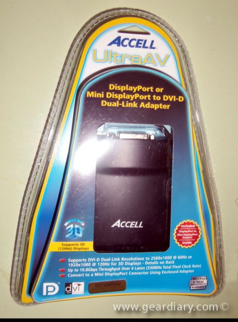 Gear Diary Accell DisplayPort/Mini DisplayPort to DVI D Dual Link Adapter Review photo
