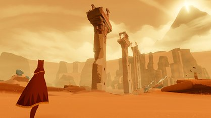 In-game screen-capture from 'Journey' (2012)