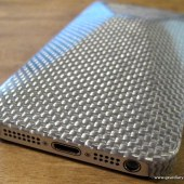 monCarbone iPhone 5 Peak Case in Luminous Silver