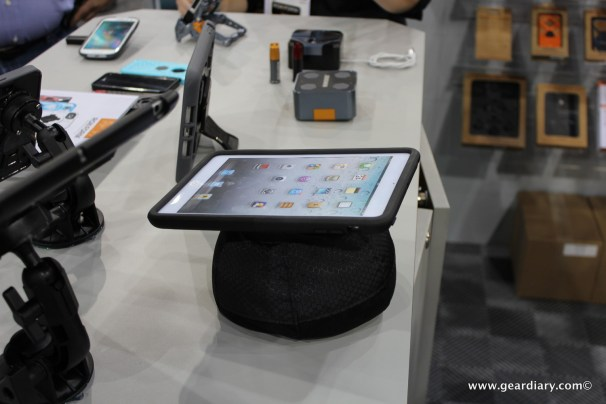 "They showed off this unusual ""stand"" for the iPad"